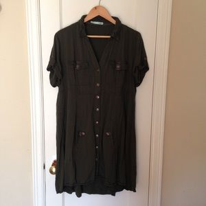 Maurices XXL olive green dress